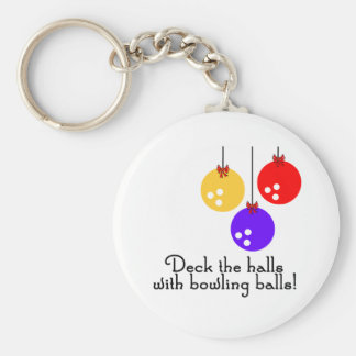 BowlingChick Deck the Halls Keychain