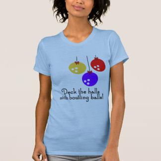 BowlingChick Deck the Halls Tshirt