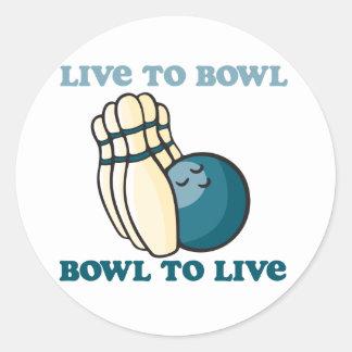 BowlingChick Live To Bowl Classic Round Sticker