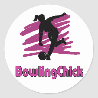 BowlingChick Logo Classic Round Sticker