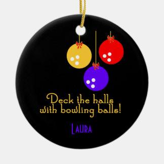 BowlingChick personalized ornament