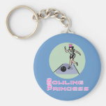 BowlingChick Princess Keychain