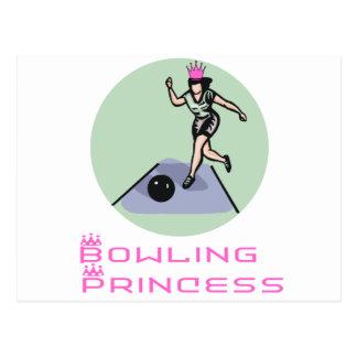 BowlingChick Princess Postcard