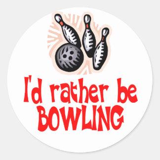 BowlingChick Rather Classic Round Sticker