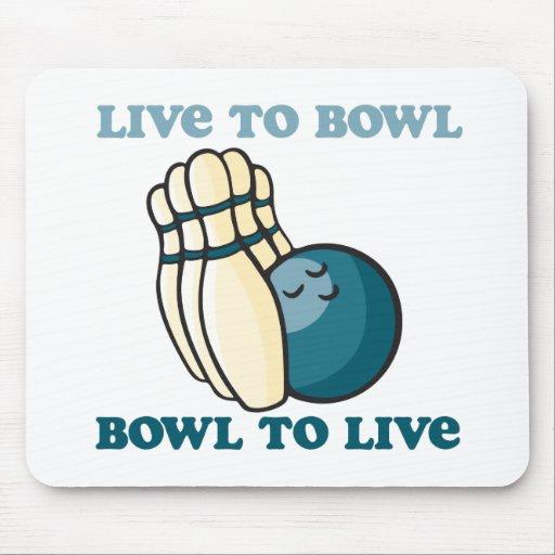 BowlingChick vivo al cuenco Alfombrilla De Raton