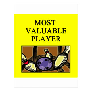 BOWLINGmost valuable player Postcard