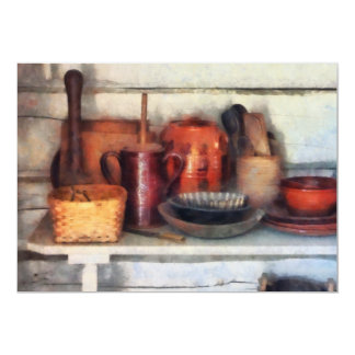 Bowls, Basket and Wooden Spoons Card