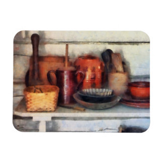 Bowls, Basket and Wooden Spoons Rectangular Photo Magnet