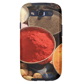Bowls of cooking spices in Indian market Samsung Galaxy SIII Cover