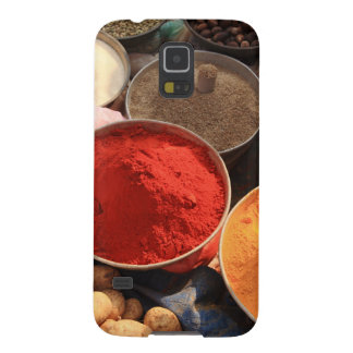 Bowls of cooking spices in Indian market Galaxy S5 Case
