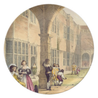 Bowls on the Terrace at Bramshill in 1600, from 'A Melamine Plate