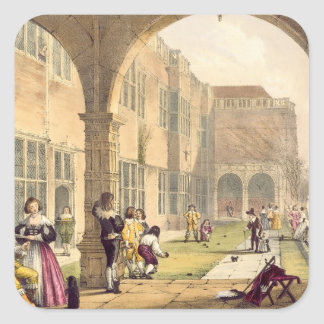 Bowls on the Terrace at Bramshill in 1600 from A Square Sticker