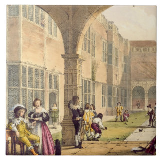 Bowls on the Terrace at Bramshill in 1600, from 'A Tile