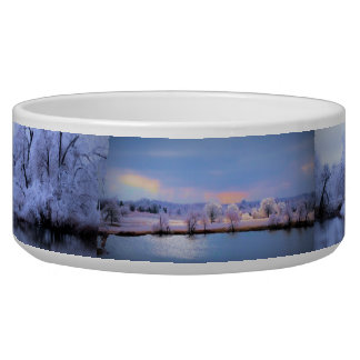 Bowls Willow Winter Wonderland and Icy Pond Dog Bowls