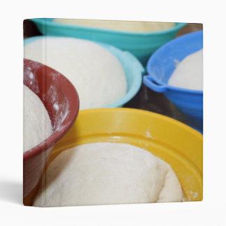 Bowls with bread dough vinyl binder