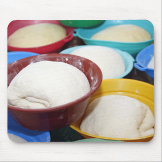 Bowls with bread dough mouse pad