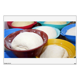 Bowls with bread dough wall decal