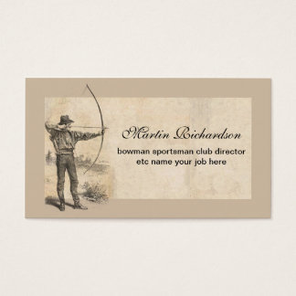 bowman archer business cards
