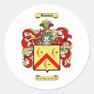 bowman classic round sticker