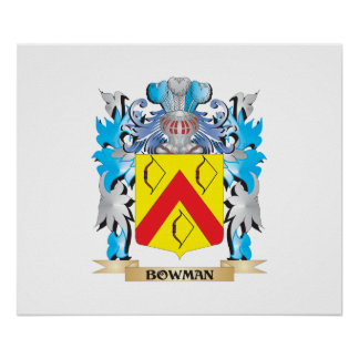 Bowman Coat of Arms Poster