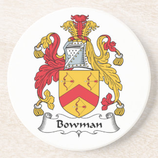 Bowman Family Crest Beverage Coasters