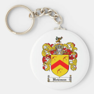 BOWMAN FAMILY CREST -  BOWMAN COAT OF ARMS KEYCHAIN