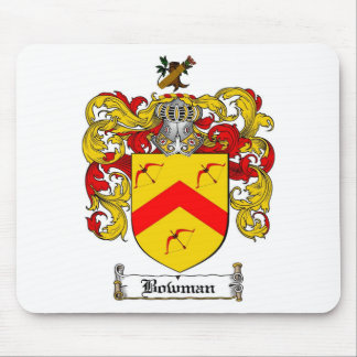 BOWMAN FAMILY CREST -  BOWMAN COAT OF ARMS MOUSE PAD