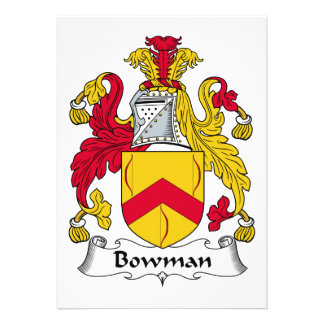Bowman Family Crest Cards