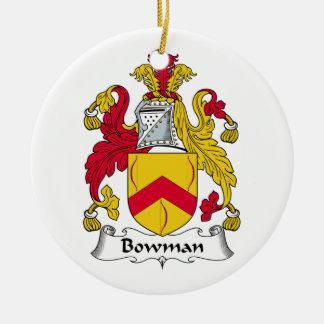 Bowman Family Crest Christmas Tree Ornament