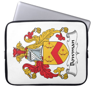 Bowman Family Crest Computer Sleeves