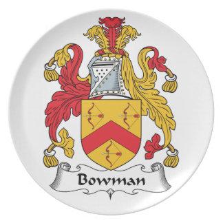 Bowman Family Crest Dinner Plate