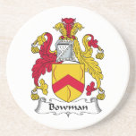 Bowman Family Crest Drink Coasters
