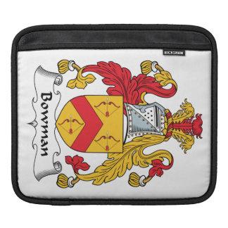 Bowman Family Crest iPad Sleeves