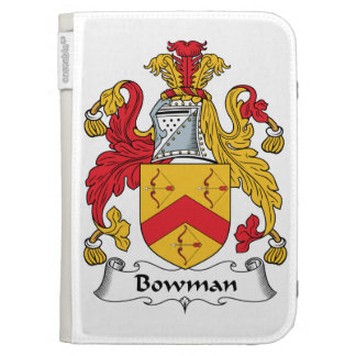 Bowman Family Crest Kindle 3 Cover