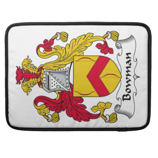 Bowman Family Crest MacBook Pro Sleeves