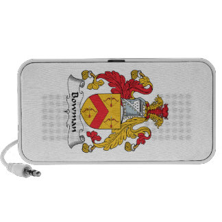 Bowman Family Crest Notebook Speakers