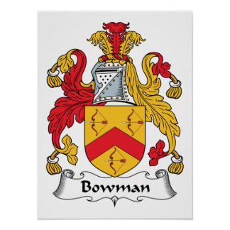 Bowman Family Crest Print
