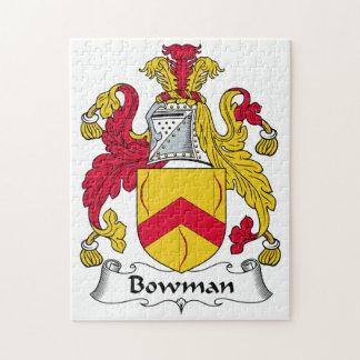 Bowman Family Crest Puzzle