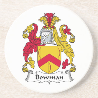 Bowman Family Crest Sandstone Coaster