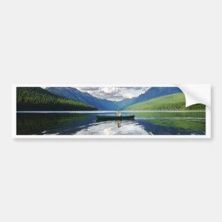 Bowman Lake - Glacier National Park Montana Bumper Sticker