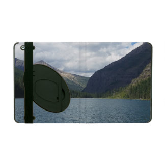 Bowman Lake - Glacier National Park Montana iPad Folio Case