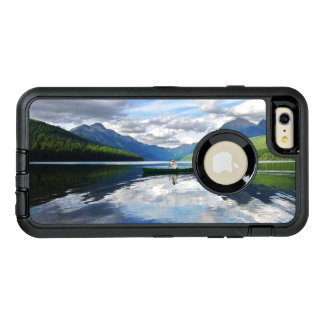 Bowman Lake - Glacier National Park Montana OtterBox Defender iPhone Case
