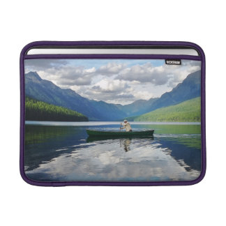Bowman Lake - Glacier National Park Montana Sleeve For MacBook Air