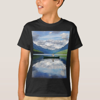 Bowman Lake - Glacier National Park Montana T-Shirt