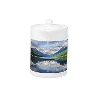 Bowman Lake - Glacier National Park Montana Teapot