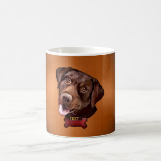 Bown lab dogs mugs