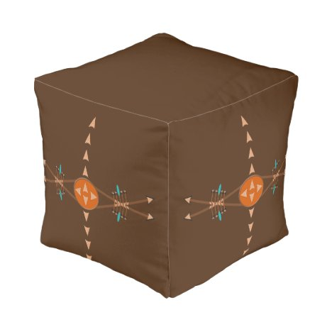 Bows And Arrows Cube Pouf