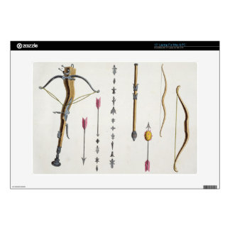 """Bows and arrows from the 14th-15th century, plate 15"""" laptop decal"""