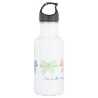bows_As cute as a bow 18oz Water Bottle