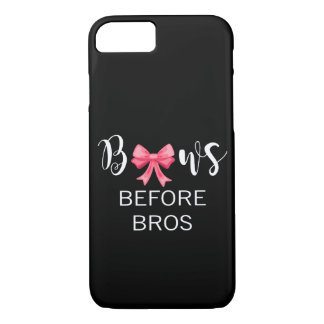 Bows Before Bros Pink Bow White Lettering iPhone 7 Case